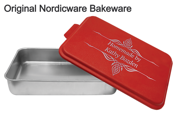 Red Personalized  9 x 13 Cake Pan Non Branded