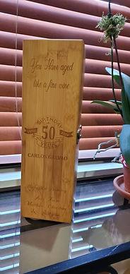 Engraved Wine Box