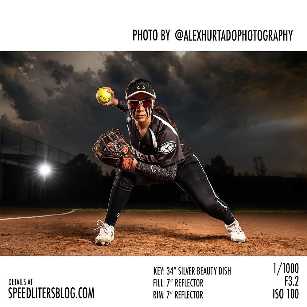 Photographer Alex Hurtado shoots dramatic sports portraits with Canon 5dMark IV, Godox AD600, Glow