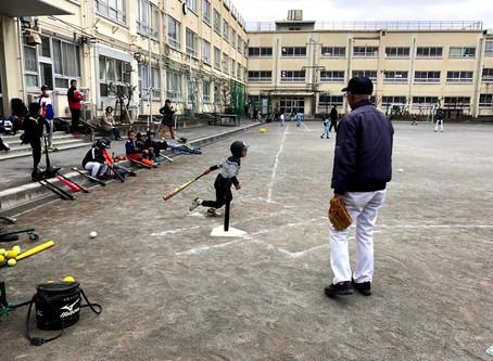 野球教室、お楽しみ会