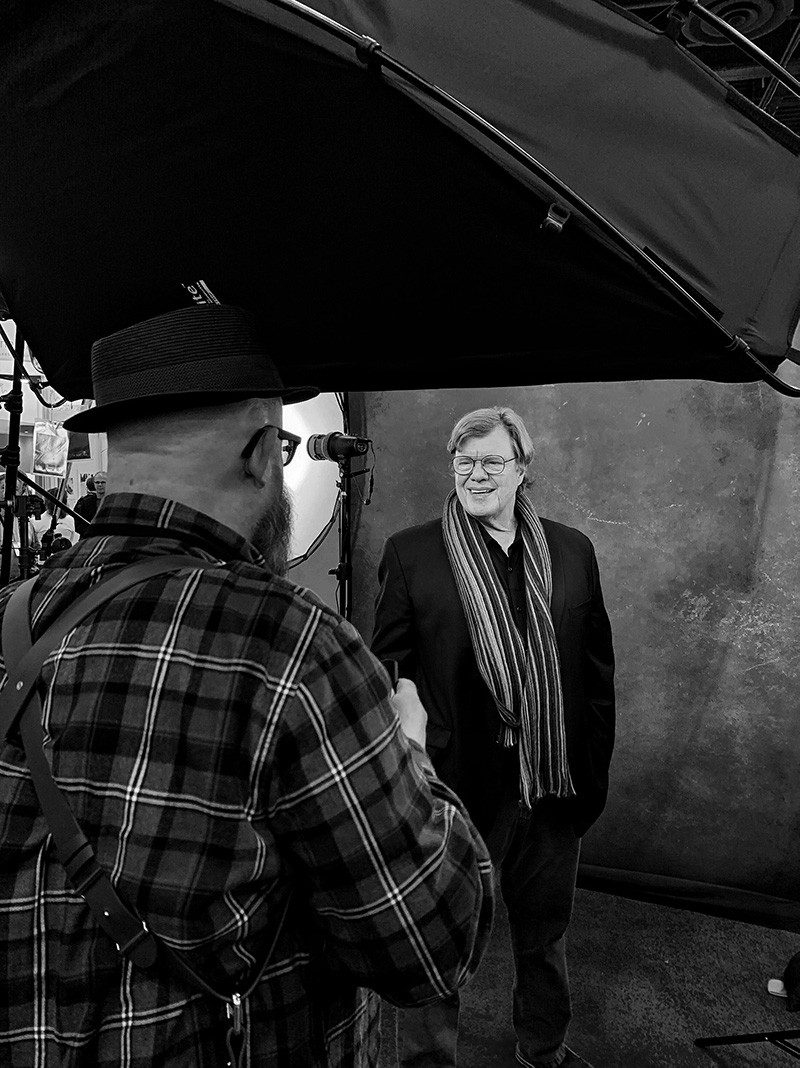 Walter Van Dusen shoots timeless portraits with sony a57III, Light and Motion CLX10, Lastolite by manfrotto softbox