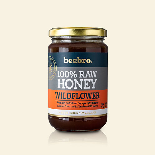 Beebro Raw Wildflower Honey 375g