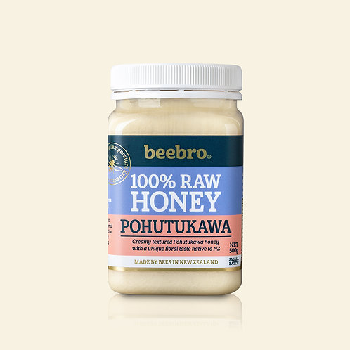 Beebro Raw Pohutukawa  Honey 500g