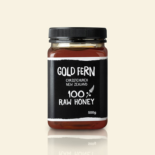 Gold Fern 100% Raw Honey 500g