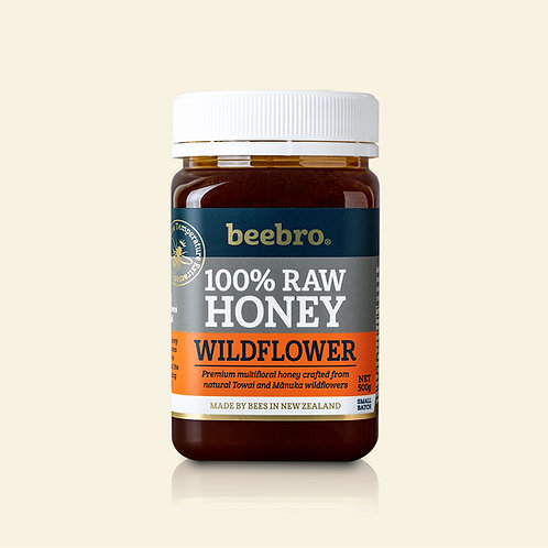 Beebro Raw Wildflower Honey 500g