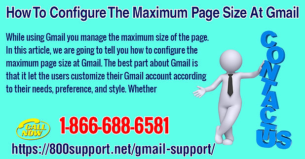 How to configure the maximum page size at Gmail