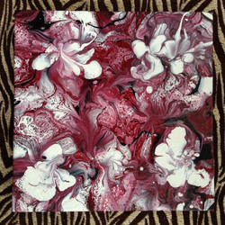 Abstract floral acrylic