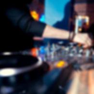 DJ console at the nightclub. Nightlife.j