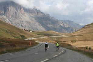 Coming off Col du Galibier