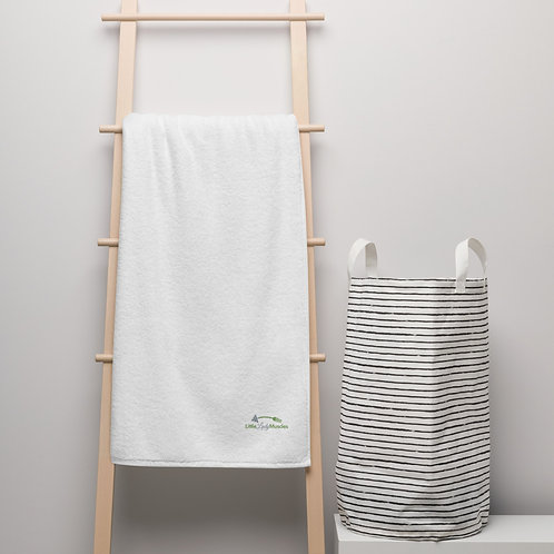 Oversized Turkish cotton towel - I AM EMBROIDERED