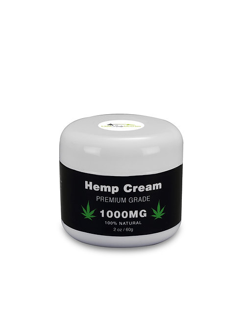 Hemp Seed Oil Cream - Premium Grade - 100% Natural - 1000MG - 2 Oz. / 60 G.