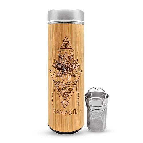 Bamboo Tumbler Mug- NAMASTE