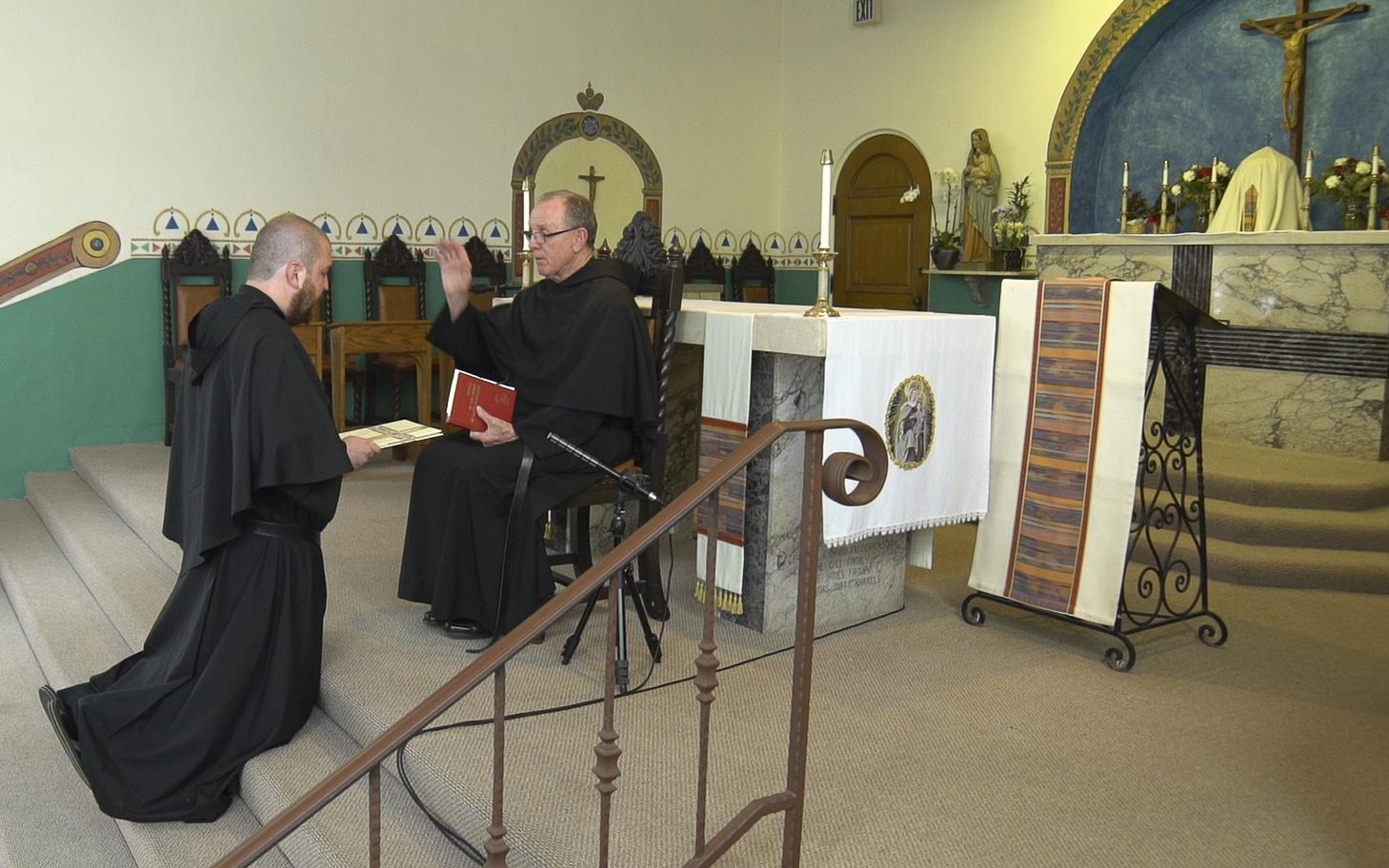 Br. Max Professes his Vows