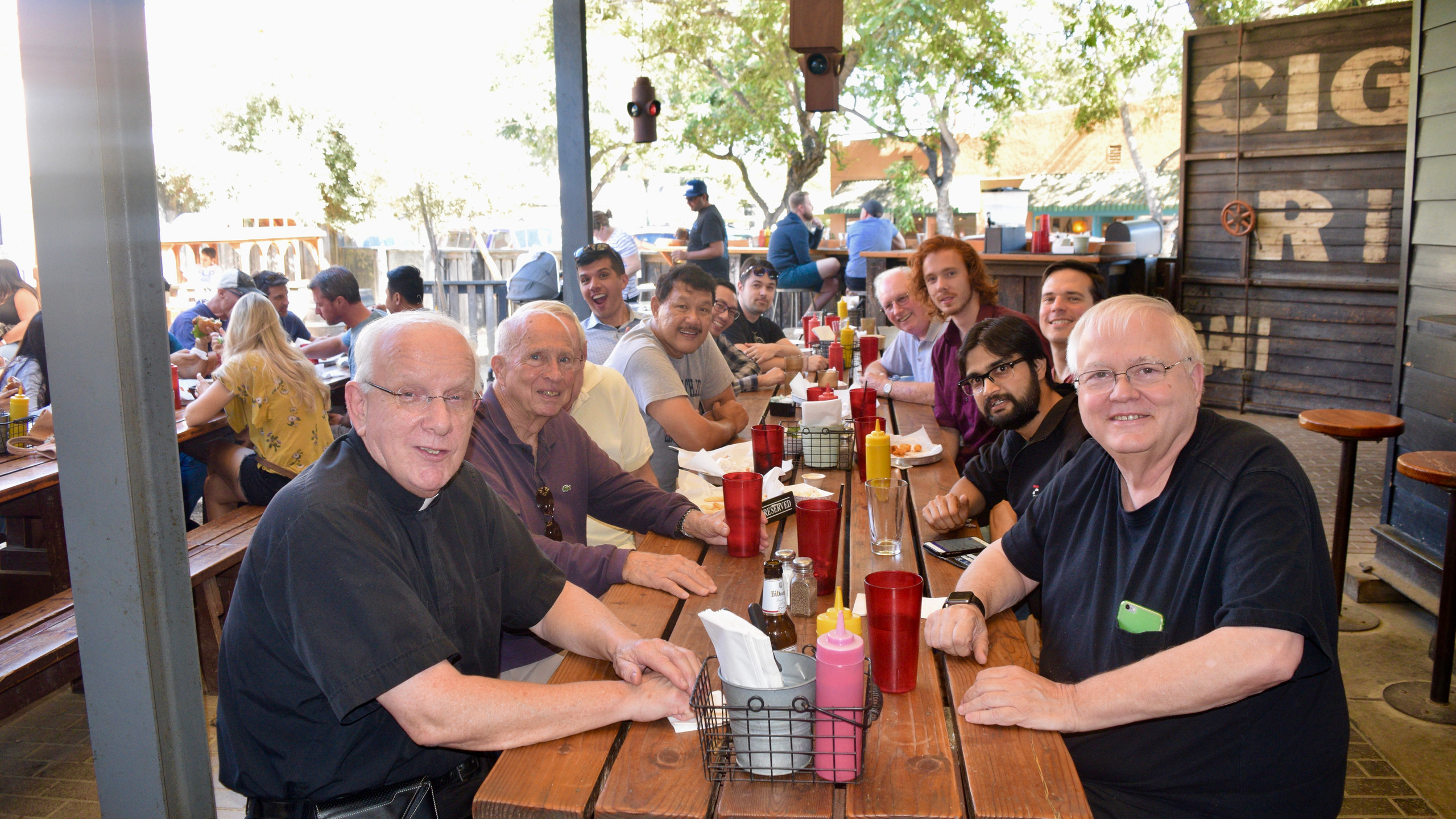 Friars and discerners at lunch