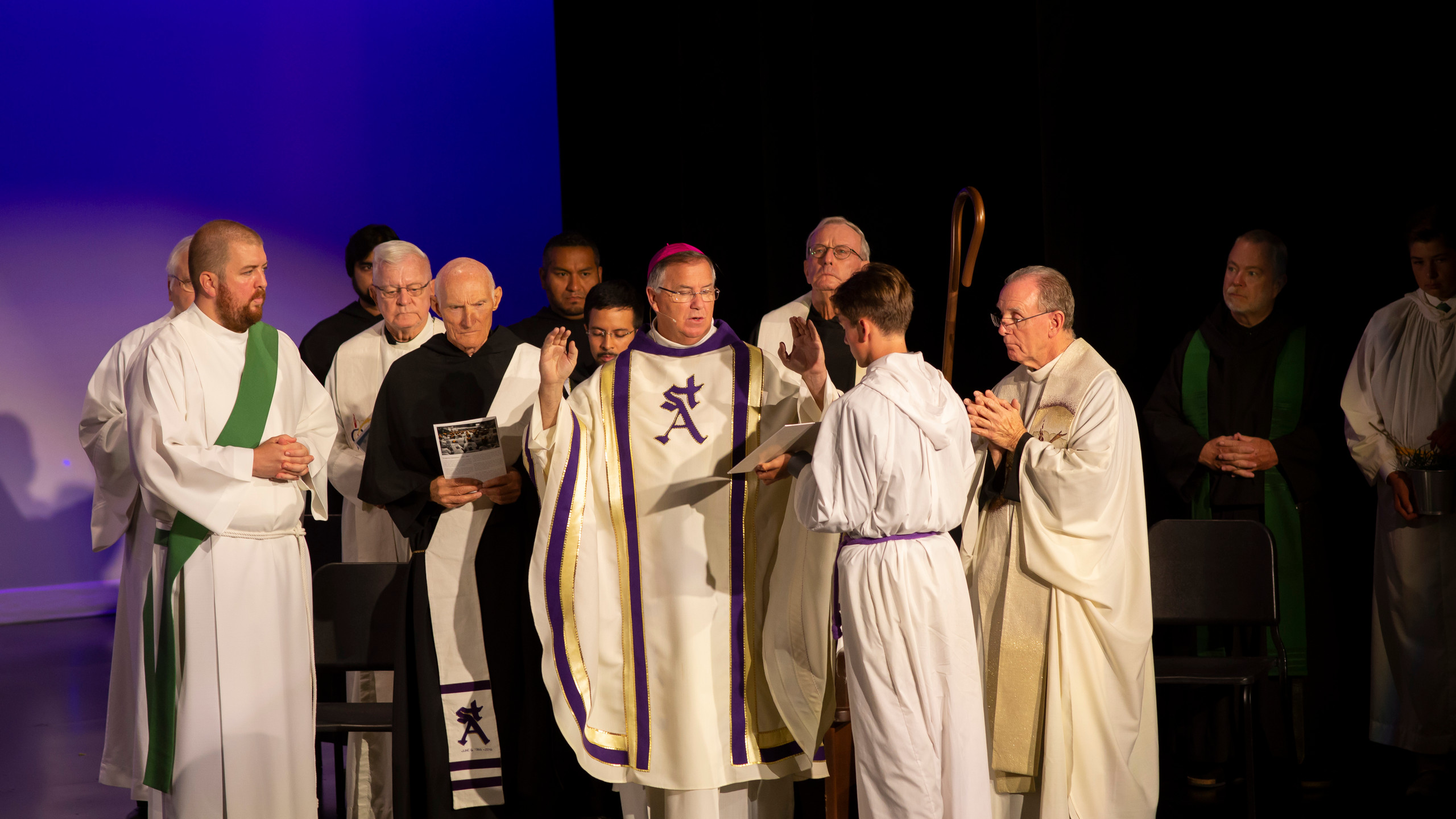 Bishop Dolan Blesses the Theater