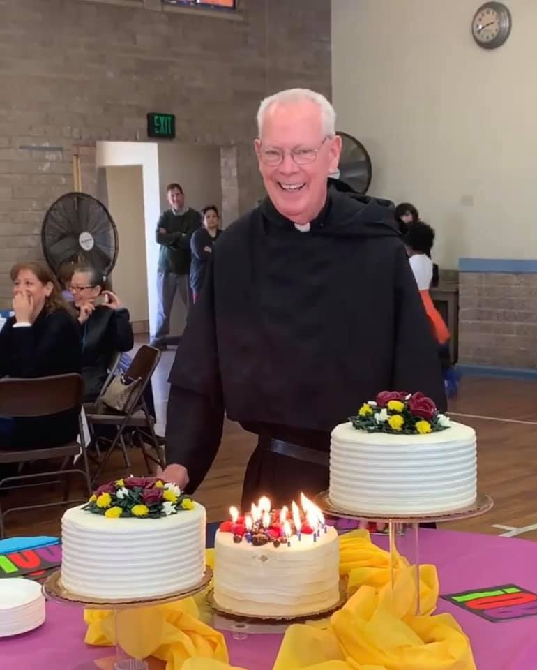 Fr. Jim and his Birthday Cakes
