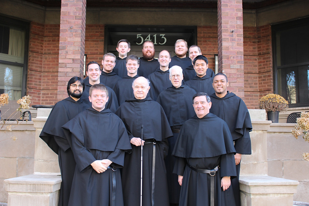The 15 brothers of the St. Augustine Friary Community