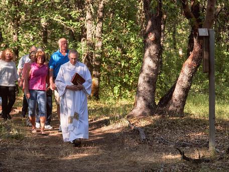 St. Rita's Retreat Center Blesses New Stations of the Cross