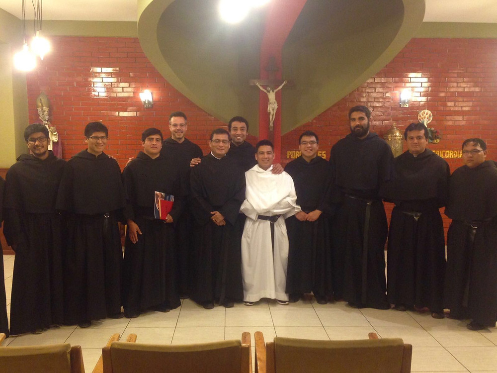 Br. Robert and friars from the Peruvian Formation House