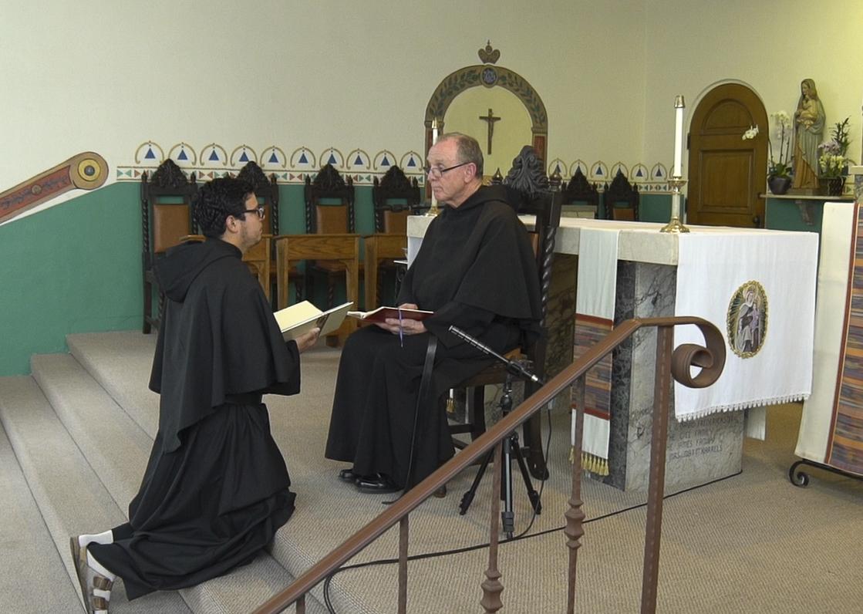 Br. Mauricio Professes his Vows