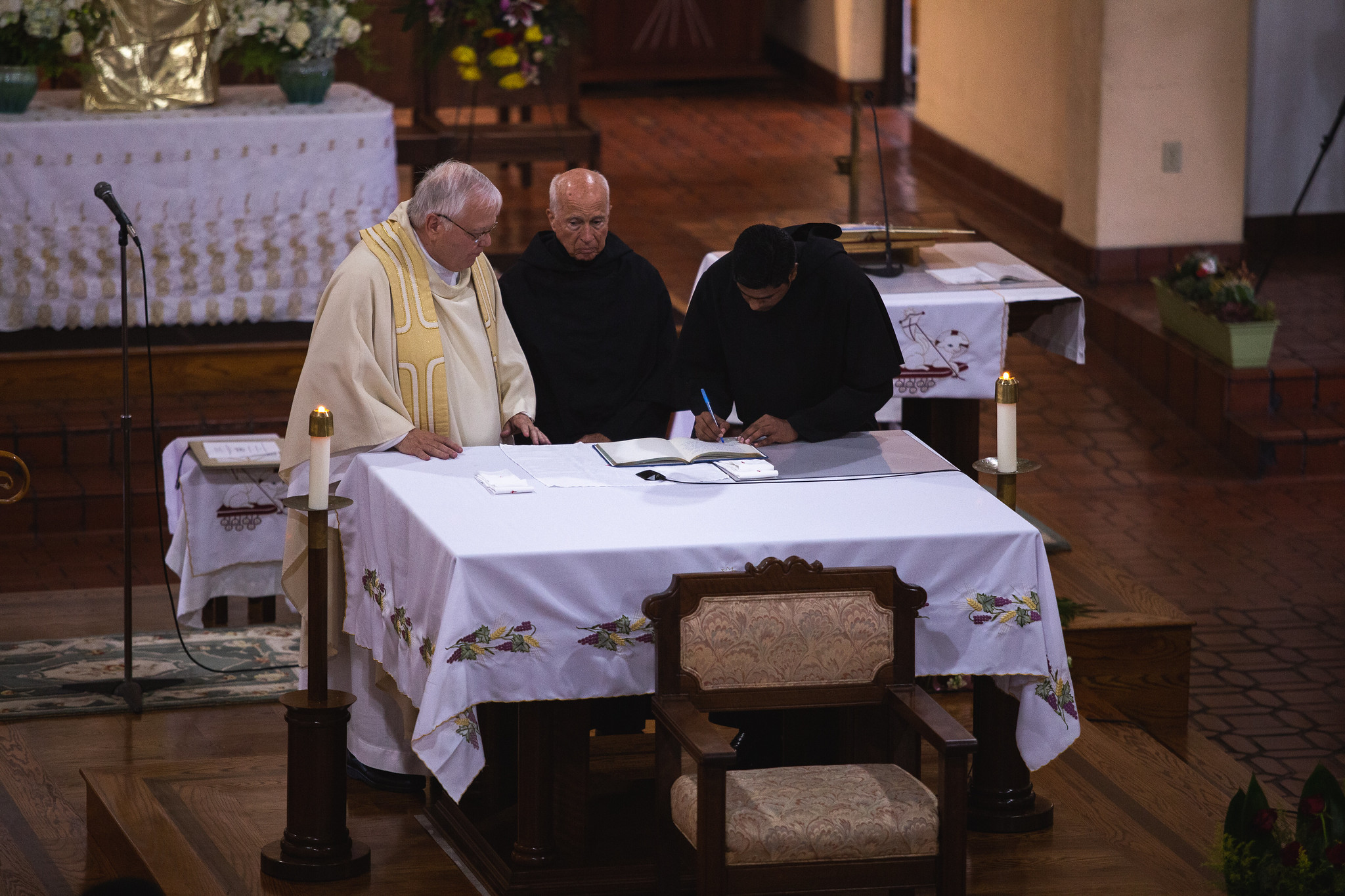 Signing of the Profession Book