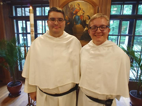 Ramon Receives the Novitiate White Habit