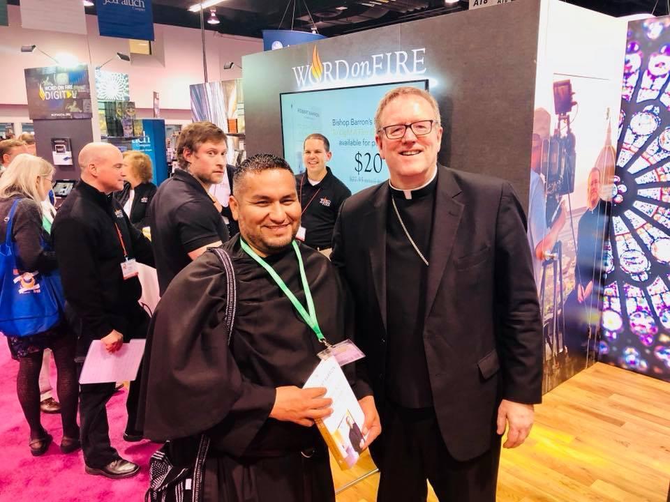 Br. Arturo and Bishop Barron