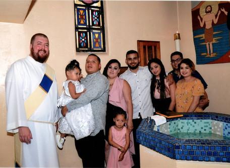 Deacon Max Celebrates First Baptisms