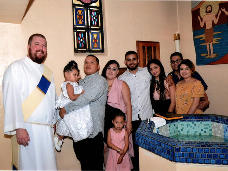 Deacon Max Celebrates First Baptisms