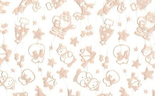 Raised Tissue Transfer-white (christmas)