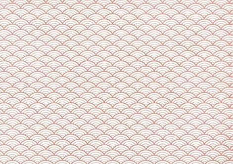 Seigaiha ( waves ) - pink tissue transfer