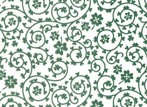Raised Tissue Transfer-green (clover)