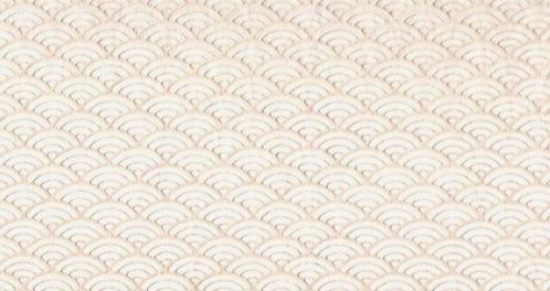 Raised Tissue Transfer - wite (seigaiha)