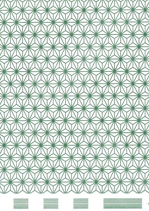 Cube pattern - green tissue transfer
