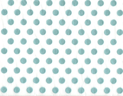 Raised Tissue Transfer-turquoise (dots)
