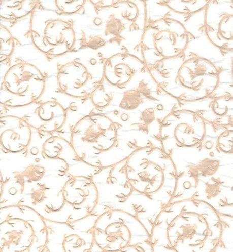 Raised Tissue Transfer-white (goldfish))