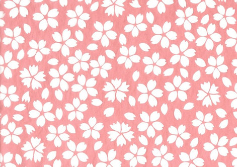 Cherry Blossom pink tissue transfer