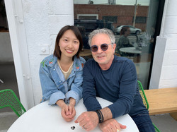 Becky Chen with mentor Peter Levy
