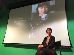 Becky Chen receiving her award