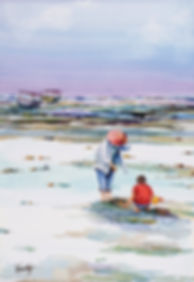 WC035 Beach Fun 38x56cm.JPG