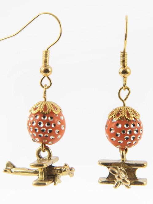 Biplans perles Orange