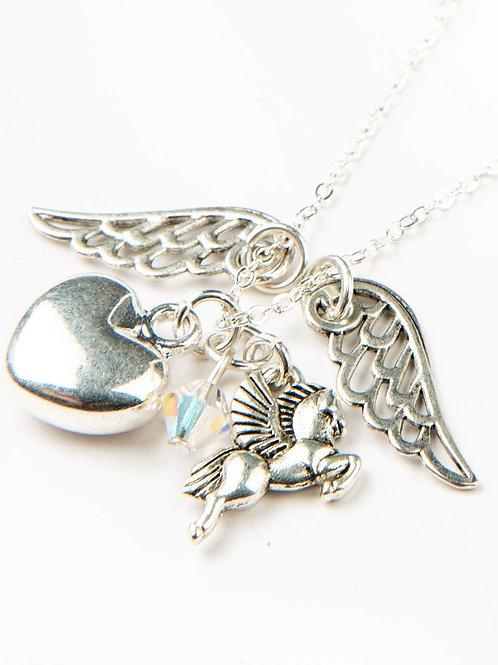 Parure Coeur des ailes