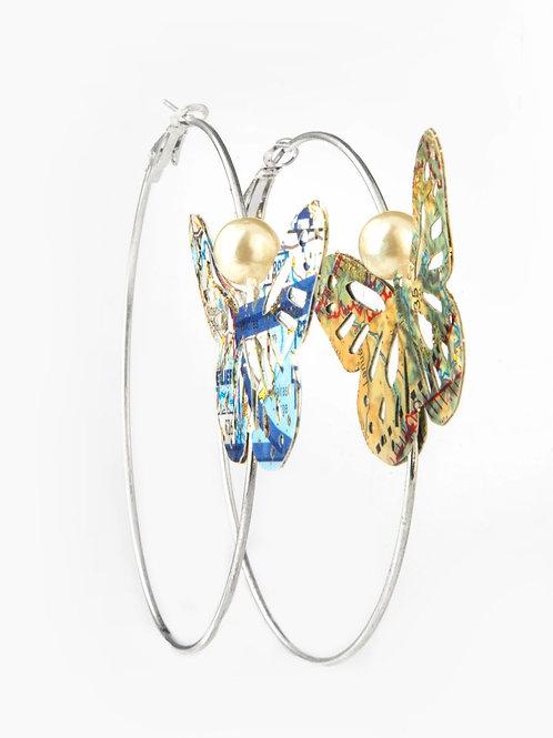 Créoles Papillon & Perle