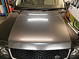 Gloss Carbon bonnet vinyl wrap