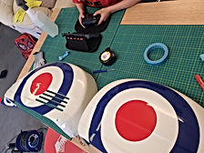 Custom mod targets designed and produced inhouse for a Vespa motorbike