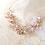 Thumbnail: Tocado oro rosa con brillos y perlas