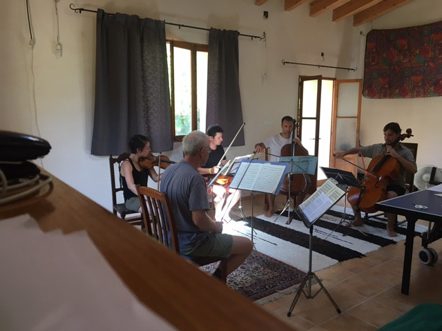 Ensemble Tramuntana assajant 19/8/2017