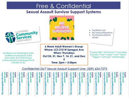 Free & Confidential Support for Sexual Assault Survivors