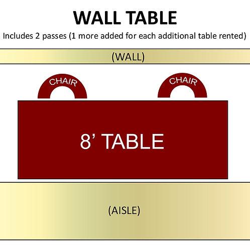 Wall Table Rental
