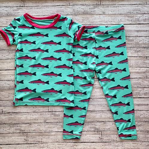 Glass Rainbow Trout Pajama Set